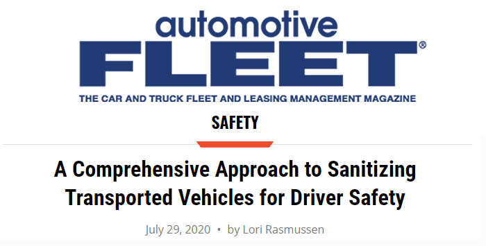 PARS? COMPREHENSIVE APPROACH TO SANITIZING VEHICLES